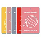 Edelcrafts Car Home Office Paper Hanging Air Freshener (Buy 4 Get 5) - FREE SHIPPING - Choice: Watermelon, Apple...