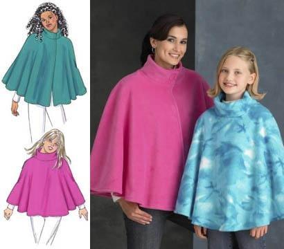 Fleece Poncho Girl Pattern – Lena Patterns