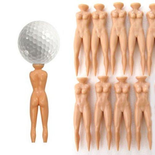 Banggood 10pcs Golf Tee Multifunction Nude Naked Lady Divot Tools Golfer Golfing Tees