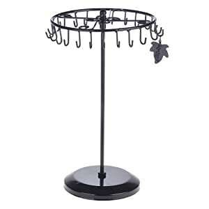 Amazon.com: Black Rotating Necklace Holder Bracelet Stand