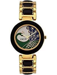 """DICE """"Venus-7304"""" Fashionable, Elegant, Contemporary, Tasteful And Attractive Watch For Women. Fitted With White Dial, Gold-Plated Stainless Steel Body"""