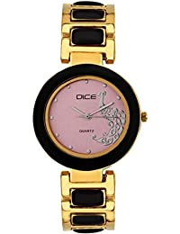 """DICE """"Venus-7305"""" Fashionable, Elegant, Contemporary, Tasteful And Attractive Watch For Women. Fitted With Multi Dial, Gold-Plated Stainless Steel Body"""