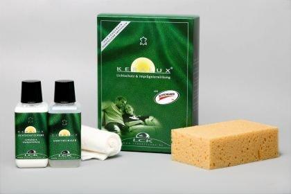 KERALUX Lederpflegeset mit Lichtschutz, je 150 ml Reiniger und Pflegecreme