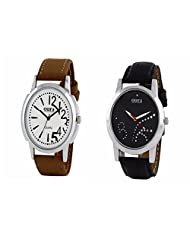 Oura White, Black Dial Analog Watch-COMBO-WB-0117-101