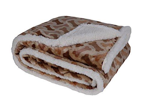 Flannel Dog Bone Throw Blanket