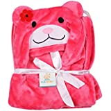Ole Baby Teddy With Flower Soft And Fluffy Hooded Mink Blanket Assorted Color And Character