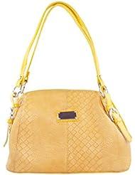 KARP Women's Vintage Casual Stylish Yellow PU Leather Multi Compartment Large Capacity Shoulder Handbag (HandBag...