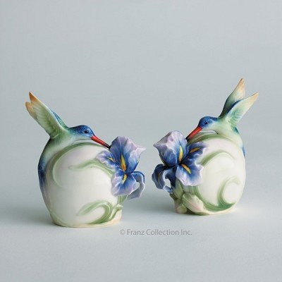Franz Porcelain Long tail hummingbird salt