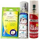 Aringel Mosquito Repellent Patch Second Generation (Pack Of 10 Pcs) +Aringel Mosquito Repellent Spray (mint) + Sit Safe - Toilet Seat Sanitizer