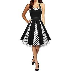 Black Butterfly 'Ivy' Vestido Swing De Lunares