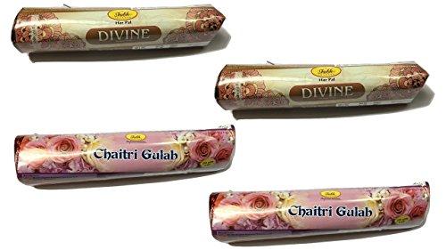 Shubh99 Incense Stick DIVINE & CHAITRI GULAB 16CM Pack Of 4