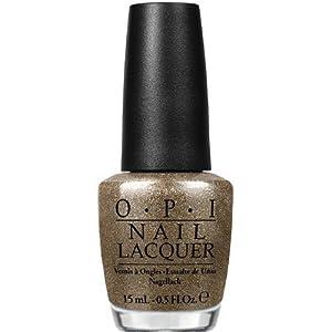 Gold sparkly nail polish