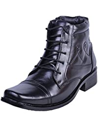 Shoebook Mens Black Leather Boot