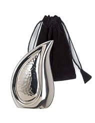 Elegante Beautifully Crafted Bright Silver Tear Drop Series Keepsake With Elegant Velvet Pouch