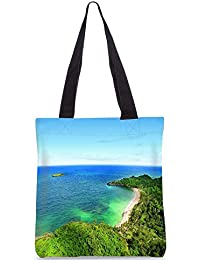 Snoogg Forest And The Sea Digitally Printed Utility Tote Bag Handbag Made Of Poly Canvas