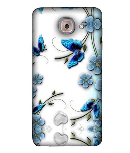 FUSON Designer Back Case Cover For Samsung J7 Max G615F/DS, Samsung Galaxy On Max, Samsung Galaxy J7 Max (Butterfly Daisy Bunch Border Garden Beauty Beautiful Bloom)