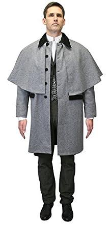 Victorian Mens Suits & Coats Wool Coburn Great Coat $181.95 AT vintagedancer.com