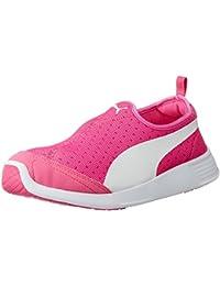 Puma ST Trainer Evo Slip-on Pink Glow, Puma White Running Shoes, Size - 6 UK