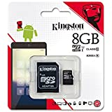 Kingston Technology Digital 8GB Micro SDHC Class 10 Memory Card With Adapter.