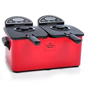 Amazon.com: The Sharper Image Red Stainless Double Deep