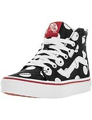 Vans Kids Sk8-Hi Polka Dots Skate Shoe Black/Fiery R 3 M US Little Kid
