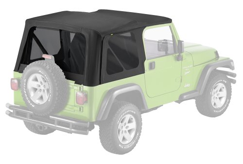 Pavement Ends by Bestop 51148-35 Replay Black Diamond Soft Top with Tinted Window for Jeep Wrangler