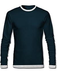 GHPC Men's Cotton Full Sleeve Round Neck Slim Fit T-Shirt