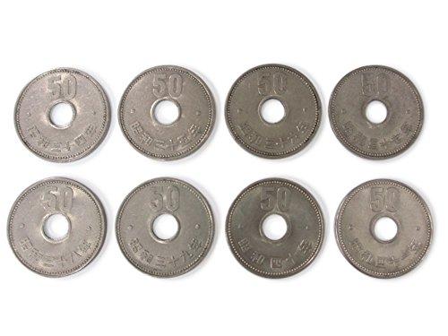 現行貨幣 菊50円ニッケル貨 全発行年を揃えた8枚セット(昭和34年?41年)
