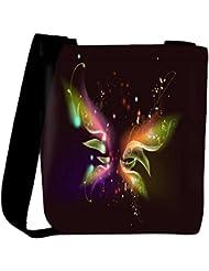 Snoogg Abstract Black Design Designer Womens Carry Around Cross Body Tote Handbag Sling Bags - B01I1IS1I0