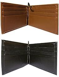 Men's Bi-Fold Wallet & Men's Bi-Fold Money Clip Wallet Combo Diwali Gift Set By PG Creations