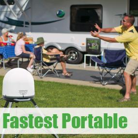 Fast Setup Portable Satellite Antenna