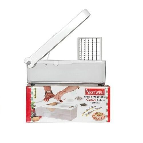 Nestwell Vegetable & Fruit Cutter Chopper With Deluxe 2 Blades