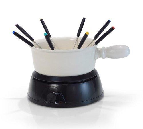 fondues kaufen elektrisches k se fondue elektro fondue f r k se keramik 8 fonduegabeln. Black Bedroom Furniture Sets. Home Design Ideas