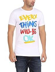 Dk Clues Men's Round Neck Cotton T-Shirt - B00XN71ZO2
