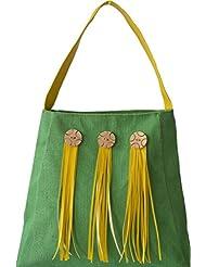 Earthen Me Jute Fashion Handbag (Green)