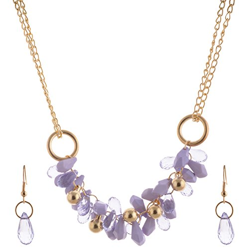 Mask Fashions Gold Metal Beads Jewellery Set For Women