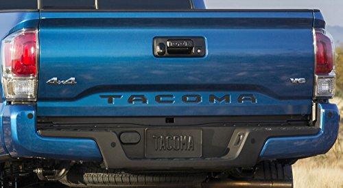 Toyota Tacoma 2016 Tailgate Insert Piano Black Letters