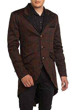 Victorian Mens Suits & Coats Lip Service Gothic Steampunk Victorian Tailored Tuxedo Blazer Tailcoat (XL) $119.99 AT vintagedancer.com