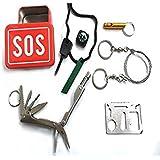 HAIN@ Outdoor Travel P Ortable Emergency Tools Kit Waterproof Bag 6 Pcs