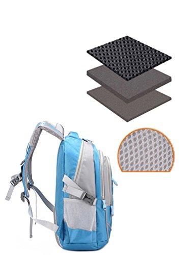 Primary High School Bookbag Waterproof Backpack for Little Water Boys Blue