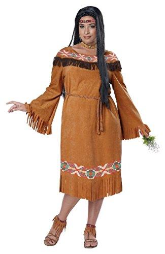 Halloween 2017 Disney Costumes Plus Size & Standard Women's Costume Characters - Women's Costume CharactersFancy Classic Indian Maiden Pocahontas Adult Plus Size Costume