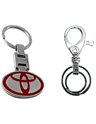City Choice Combo Of Toyota & Unique Design Hook & Locking Full Metal Keychain