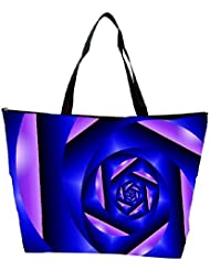 Snoogg Abstract Blue Cylone Pattern Designer Waterproof Bag Made Of High Strength Nylon