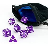 Polyhedral Dice Set Purple Opaque (solid) | 7 Piece | PRISTINE Edition | FREE Carrying Bag | Hand Ch