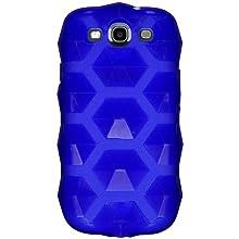 Amzer 94838 Hexagon High Gloss TPU Soft Gel Skinase - Blue For Samsung GALAXY S III GT-I9300