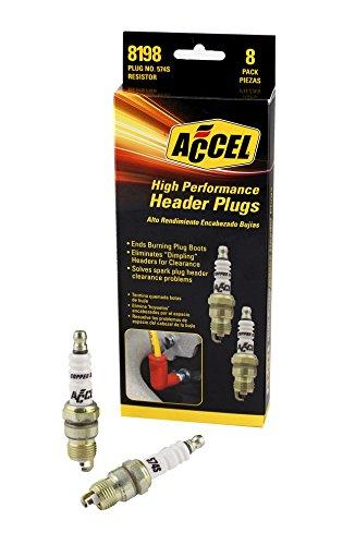 ACCEL 8198 Performance U-Groove Header Spark Plug – Pack of 8