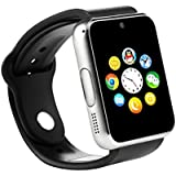 Bingo T50 Silver Bluetooth Smart Watch With Sim Card Slot And Camera-silver With Usb Led Light Free
