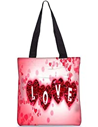 Snoogg Love Digitally Printed Utility Tote Bag Handbag Made Of Poly Canvas