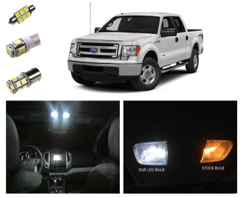 09-14 Ford F-150 LED Package Interior + Tag + Reverse Lights (13 pieces)