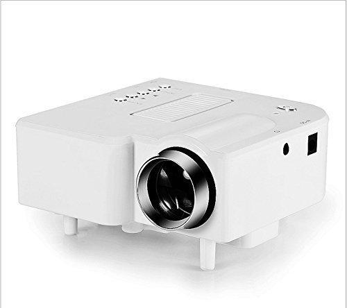 Free Shippig Portable LED Projector Cinema Theater PC&Laptop VGA/USB/SD/AV/HDMI Input White Mini Projector Support...